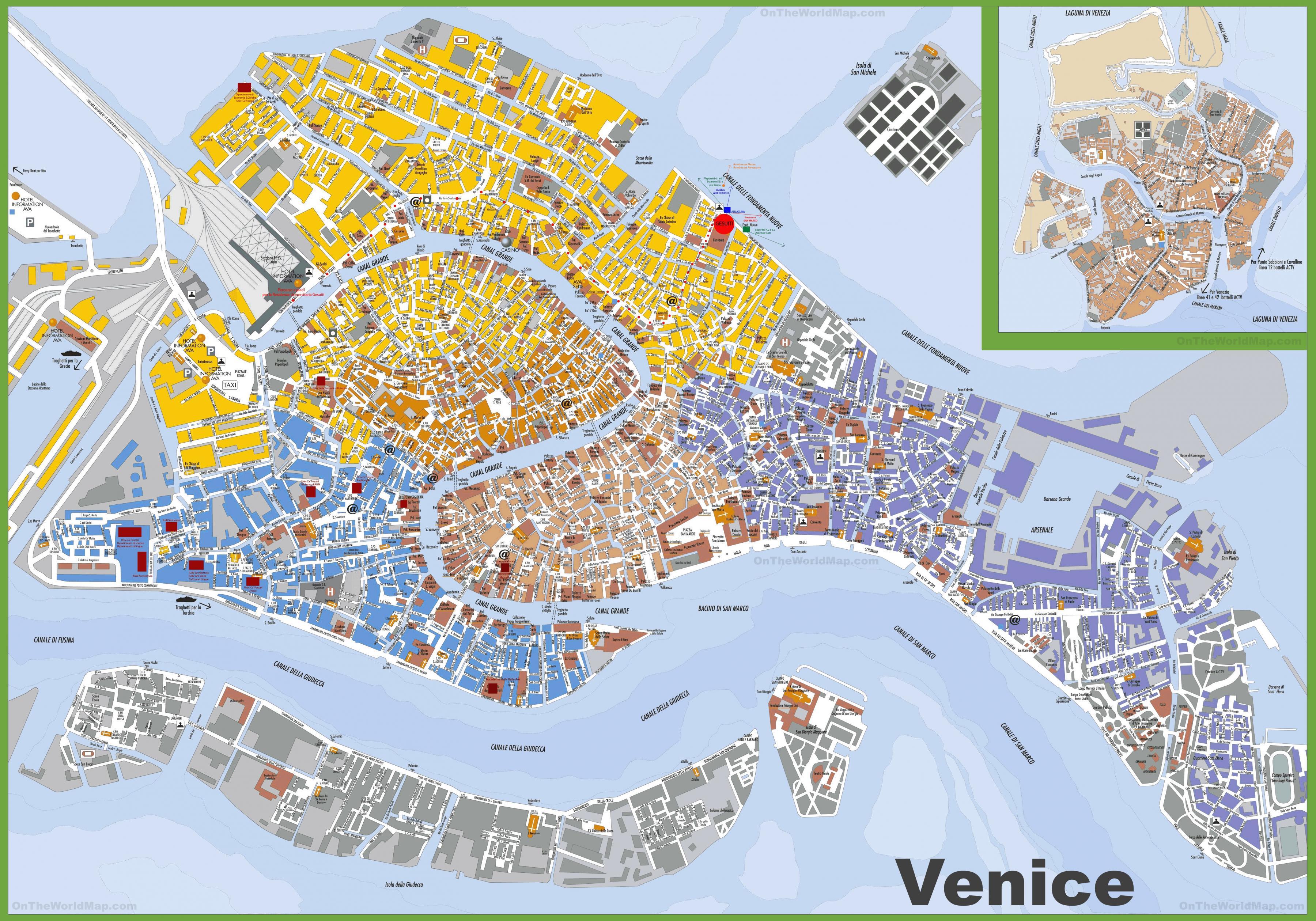 Wenecja Forum Mapa Offline Mapa Wenecji Wlochy