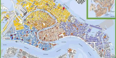 Mapa Wenecji Karty Wenecji Wlochy